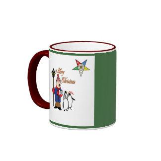 OES Penguin Holidays Ringer Mug