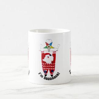 OES Santa Hanging Around Mug