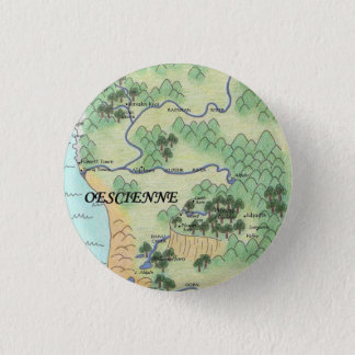 Oescienne Map 3 Cm Round Badge