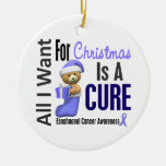 Oesophageal Cancer All I Want Christmas Ornaments