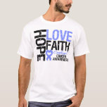 Oesophageal Cancer Hope Love Faith T-Shirt