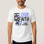 Oesophageal Cancer Hope Love Faith Tee Shirt