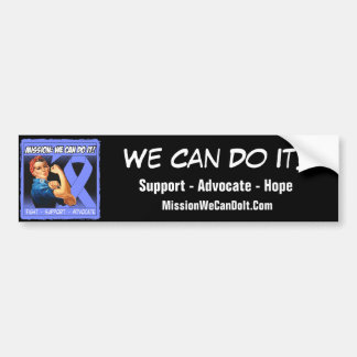 Oesophageal Cancer Mission We Can Do It Bumper Sticker