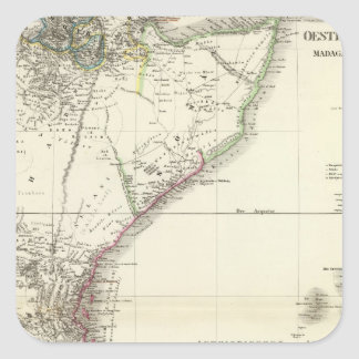 Oest HochAfrica - East Africa Square Sticker