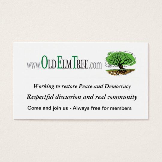 OET business card, v2 Business Card