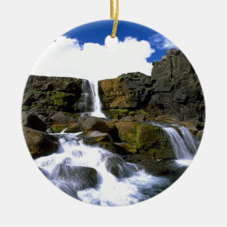 Oexarafoss  Canyon  iceland Christmas Ornament