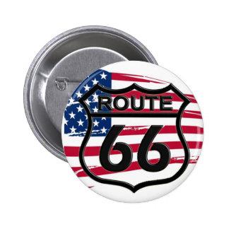 Of America route 66 6 Cm Round Badge
