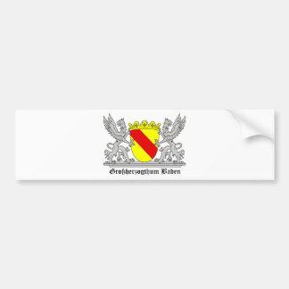Of Baden seize mi writing Grand Duchy of bathing Bumper Sticker