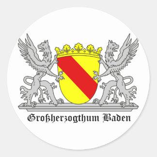 Of Baden seize mi writing Grand Duchy of bathing Round Sticker