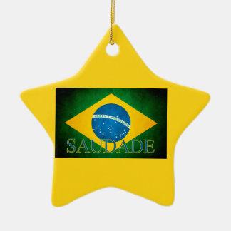 Of Brazil Homesickness of the flag Ceramic Star Decoration