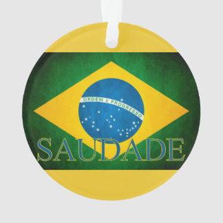 Of Brazil Homesickness of the flag Ornament