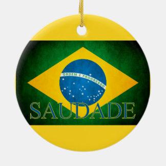 Of Brazil Homesickness of the flag Round Ceramic Decoration