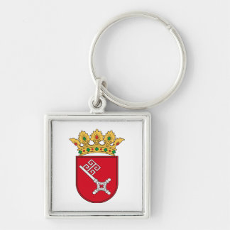 Of Bremen coats of arms Silver-Colored Square Key Ring