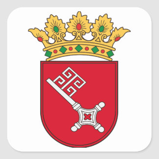 Of Bremen coats of arms Square Sticker