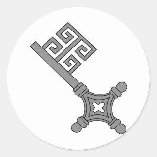 Of Bremen keys Classic Round Sticker
