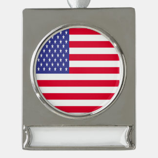 of Clubs Silver Plated Banner Ornament