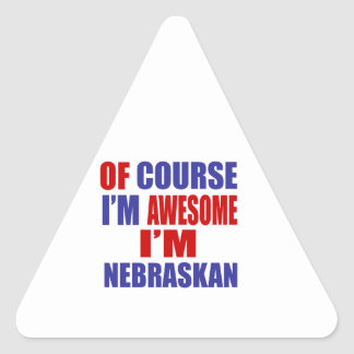 Of Course I Am Awesome I Am Nebraskan Triangle Sticker