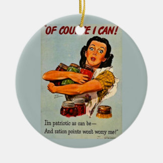 Of Course I Can Vintage Retro World War II Christmas Ornaments