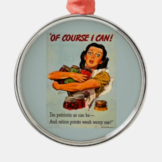Of Course I Can Vintage Retro World War II Christmas Tree Ornaments