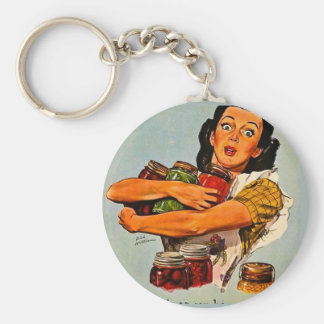 Of Course I Can Vintage Retro World War II Keychains