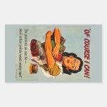 Of Course I Can! Vintage Retro World War II Rectangular Sticker
