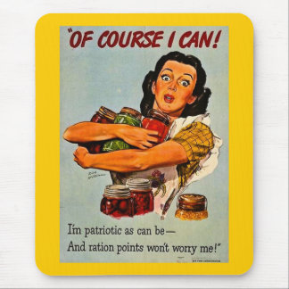 Of Course I Can! Vintage World War II Mouse Mat