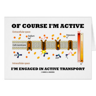Of Course I m Active I m Engaged Active Transport Greeting Card