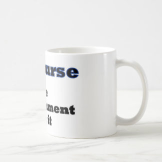 Of course the government did it basic white mug