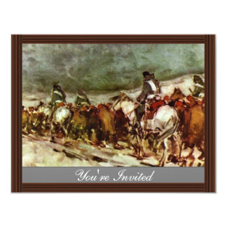 Of Prisoners By Grigorescu Nicolae (Best Quality) 11 Cm X 14 Cm Invitation Card