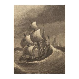 Of Pyrate Galleys Warping Down, Ingelow Wood Print