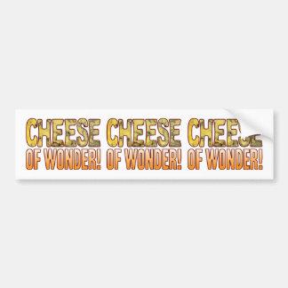 Of Wonder Blue Cheese Bumper Sticker