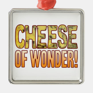 Of Wonder Blue Cheese Silver-Colored Square Decoration