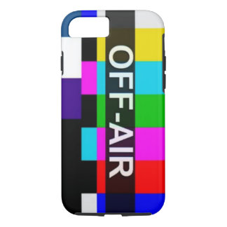 Off Air Tv Signal after hours graphic. iPhone 7 Case