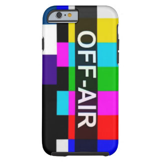 Off Air Tv Signal after hours graphic. Tough iPhone 6 Case