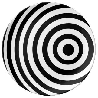 Off Center Black and White Target Plate