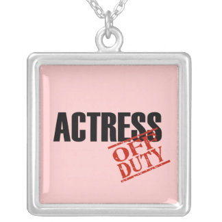 OFF DUTY Actress Square Pendant Necklace