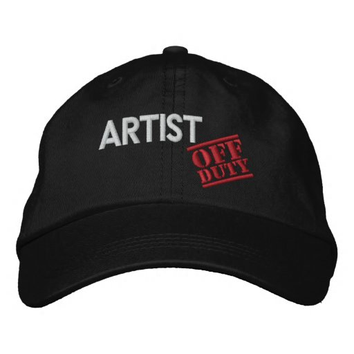 Off Duty Artist Embroidered Baseball Caps