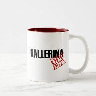 Off Duty Ballerina Two-Tone Coffee Mug