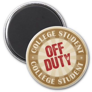 Off Duty College Student 6 Cm Round Magnet