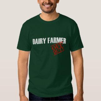 OFF DUTY DAIRY FARMER TEES