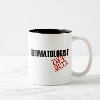Off Duty Dermatologist Two-Tone Coffee Mug
