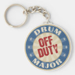 Off Duty Drum Major Basic Round Button Key Ring