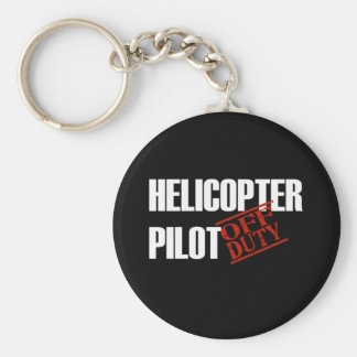 OFF DUTY HELICOPTER PILOT DARK KEY RING