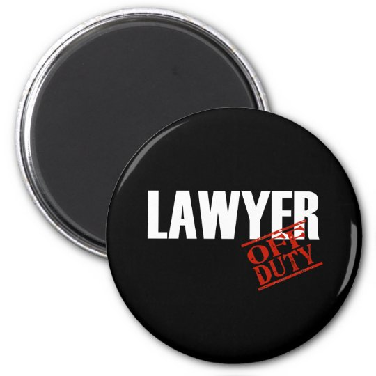OFF DUTY LAWYER DARK MAGNET