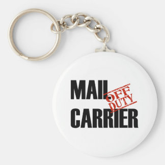 OFF DUTY MAIL CARRIER LIGHT BASIC ROUND BUTTON KEY RING
