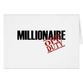OFF DUTY MILLIONAIRE LIGHT CARD