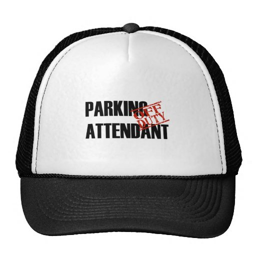 OFF DUTY PARKING ATTENDANT LIGHT TRUCKER HATS