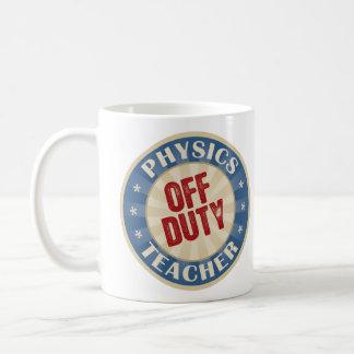 Off Duty Physics Teacher Basic White Mug