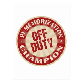 Off Duty Pi Memorization Post Cards