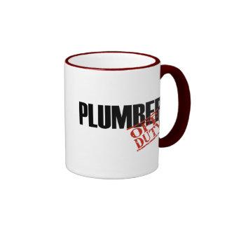 OFF DUTY Plumber Ringer Mug